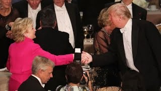 Trump and Clinton at 2016 Al Smith Dinner