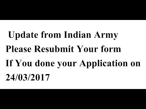 who Apply for Army rally on 24/03/2017 | Resubmit Your Application Again