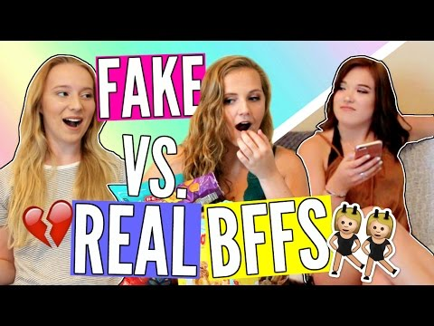 FAKE VS REAL BEST FRIENDS // Things ONLY BFFS Do! | Cicily Boone