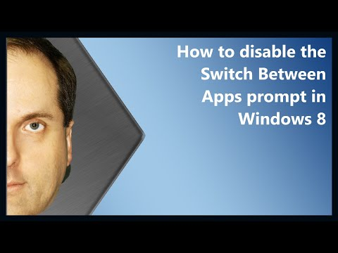 How to disable the Switch Between Apps prompt in Windows 8