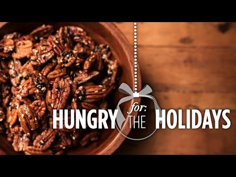 Maple Glazed Pecans | Hungry for the Holidays