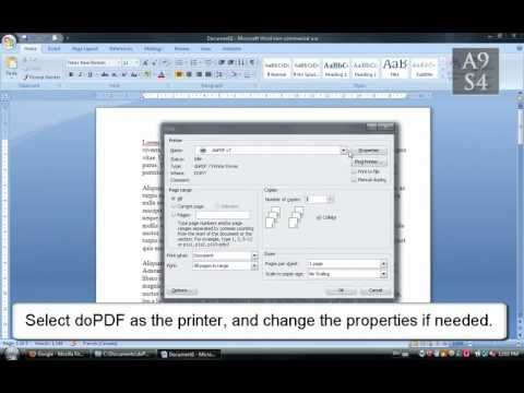 Tutorial - How to Convert a Webpage / Word Document to PDF
