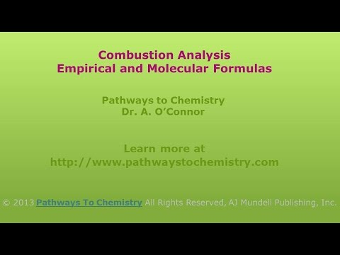 Chemistry Combustion Analysis: Empirical and Molecular Formulas