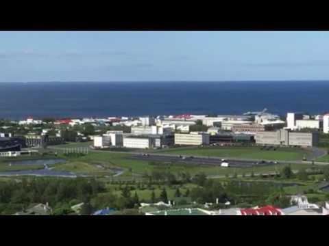 F18 fighter landing at Reykjavik city airport