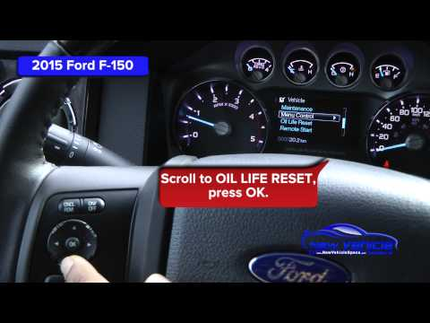 2015 Ford F-150 Oil Light Reset / Service Light Reset