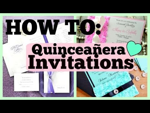 How to Make Your Own Quince Invitations!