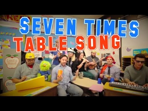 Seven Times Table Song (Cups by Anna Kendrick Cover) with Classroom Instruments