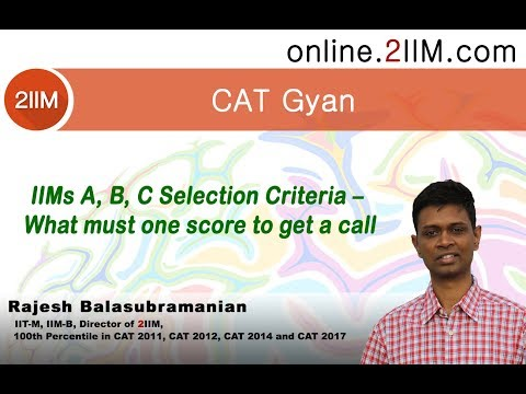 IIMs A, B, C Selection Criteria – What must one score to get a call