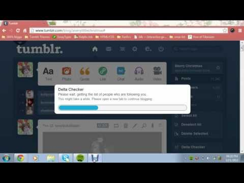 How to access your 'unfollower tracker' on tumblr
