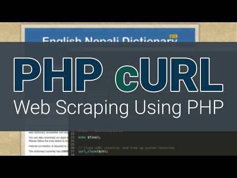 PHP cURL Tutorial - Creating Your Own Dictionary - Web Scraping
