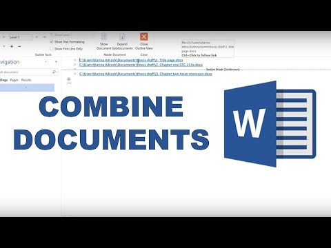 How to combine word documents