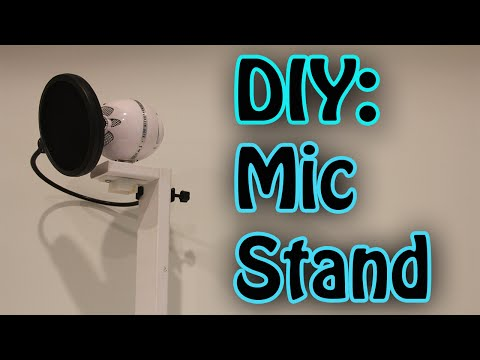 DIY Microphone Stand -{Blue Snowball}-
