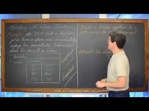 Modeling Real World Problems Linear Functions Part 2