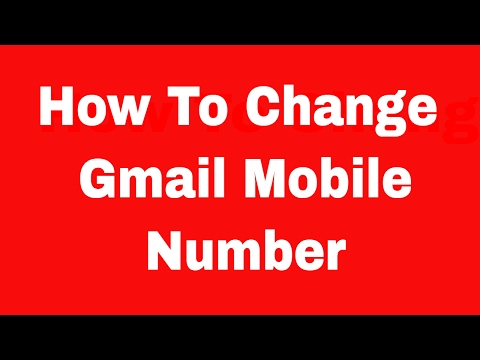 How To Change Gmail Mobile Number In Verification - Hindi Audio - Updated 2017