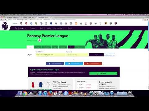 how to create fantasy premier league account