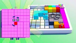 Lvl 7 , Create Numberblocks 81 , NUMBERBLOCKS PUZZLE Tetris Game  Animation Fanmade