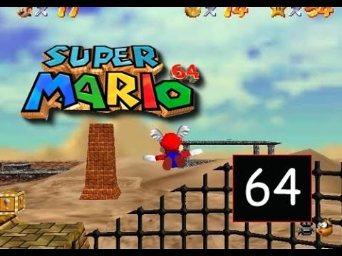 Super Mario 64 - Shifting Sand Land - Free Flying for 8 Red Coins - 64/120