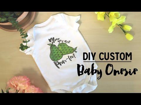 DIY Custom Baby Onesie  | Friedia
