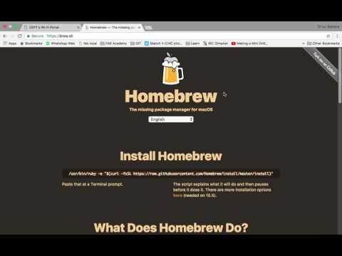 homebrew and GitHub Setup for Mac OS