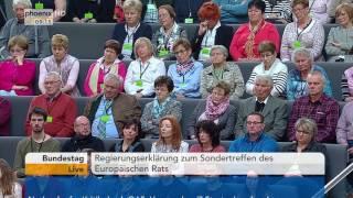 Regierungserklärung von Angela Merkel zum Sondertreffen des Europäischen Rats am 27.04.17