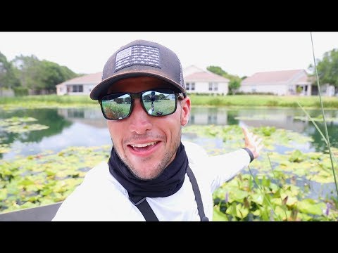 Fishing for Bass In The Lilly Pads!! (Lakeland, FL)