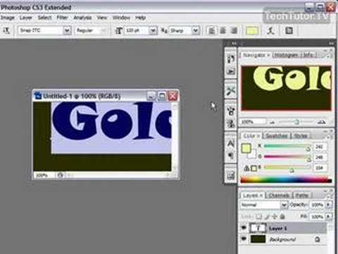 Create a Gold Text Effect in Photoshop CS3
