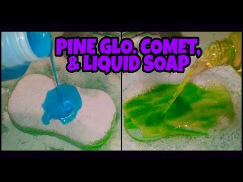 Soapy Car Sponge w/ Lavender & Lemon Pine Glo, Comet & Liquid Soaps | ASMR CLEANING, SPONGE SOUNDS