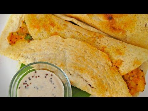 Masala Dosa Recipe in Hindi - दक्षिण भारतीय मसाला डोसा रेसिपी @ jaipurthepinkcity.com