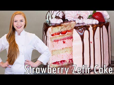 Strawberry Marshmallow Cake - Торт с Зефиром