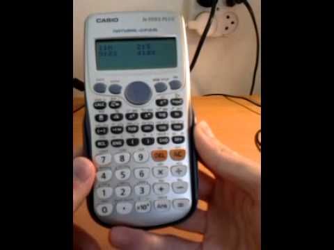 Casio fx-570es / 991es plus statistical calculations