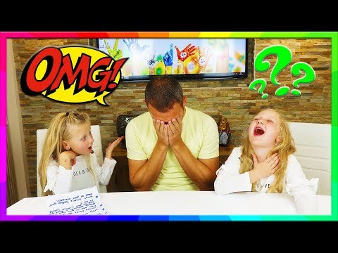 Kids Ask Dad AWKWARD Questions SEX TALK and BABIES Cringe Try Not To Laugh | Hannah and Jessica