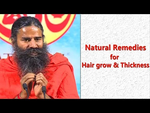 How To Grow Long and Thicken Hair Naturally | Swami Ramdev