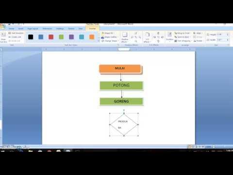 Cara Membuat Flowchart  Memakai Microsoft Word