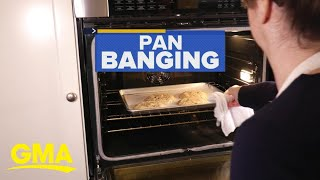 'Pan banging' chocolate chip cookies is the new cookie trend l GMA