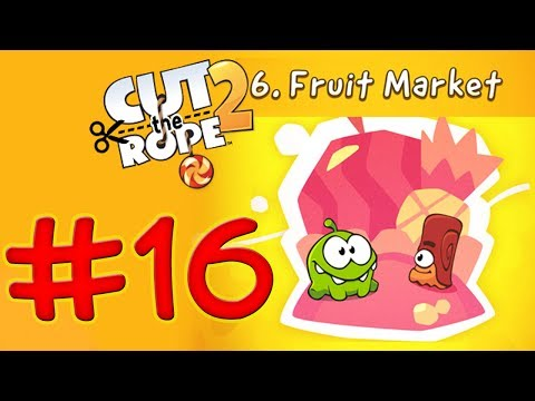 Cut The Rope 2 - Level 136 Fruit Market - All Medals Walkthrough