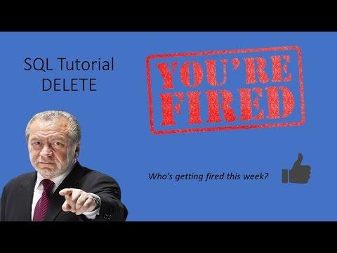 SQL Tutorial - DELETE