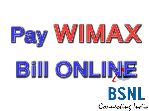 How to pay bsnl wimax bill online (bsnl online payment)