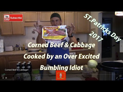 Corned Beef & Cabbage Cooked in Guinness Beer in the Farberware 7 in 1 programmable pressure cooker
