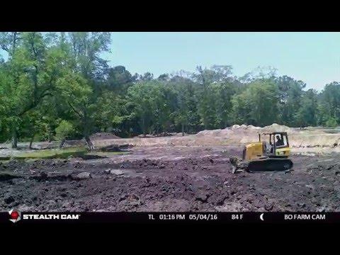 1 acre Farm Pond Dig - Time Lapse