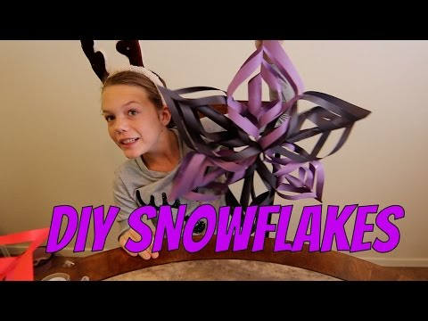 ❄DIY TUTORIAL FOR PAPER SNOWFLAKES!! ❄