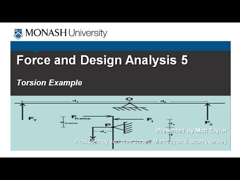 Force and Design Analysis 5:  Torsion Example