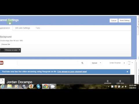 Tutorial: How to change your youtube url and channel name