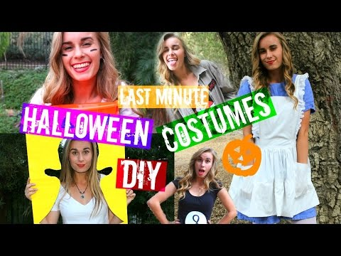 Quick DIY Last Minute Halloween Costumes YOU MUST KNOW!