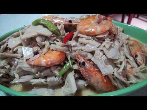 Ginataang Langka Shrimp
