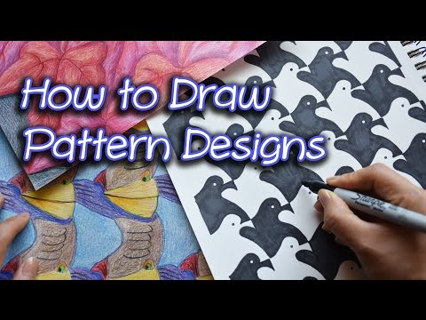 How to Draw Pattern Designs | Houndstooth Pattern |