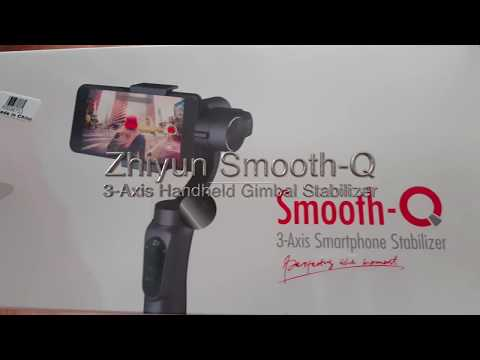Zhiyun Smooth-Q 3-Axis Gimbal Stabilizer Unboxing