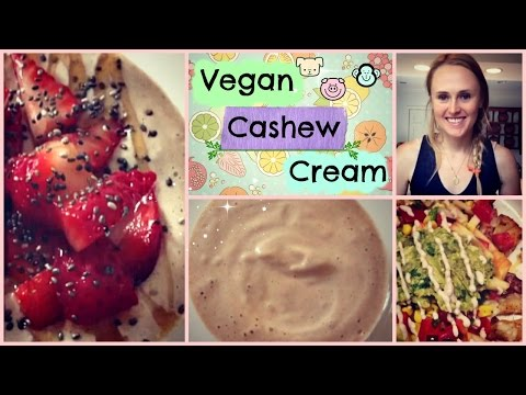 Homemade Cashew Cream Recipe // Vegan Salad Dressing, Sour Cream, Cheese and Yogurt Substitute