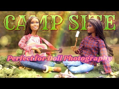 DIY - How to Make: Doll Camp Site | Perfect for Portable Doll Photography