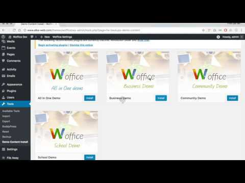 How to create an Intranet with Wordpress in less than 3 minutes (Woffice Business Demo)