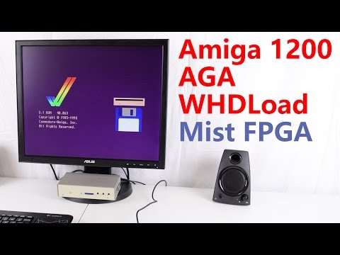 Amiga 1200 AGA WHDLoad Mist FPGA Computer Review and Tutorial